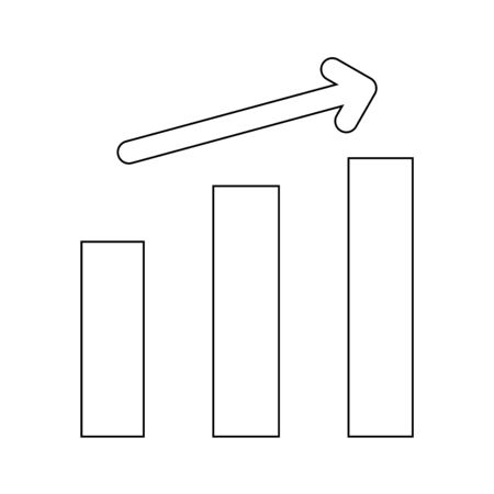 Growth chart it is the black color icon .