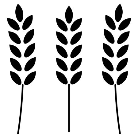 Wheat  it is the black color icon . Illustration