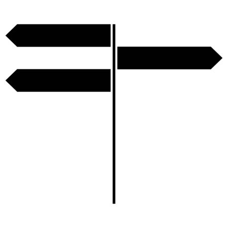 Direction sign  it is the black color icon .