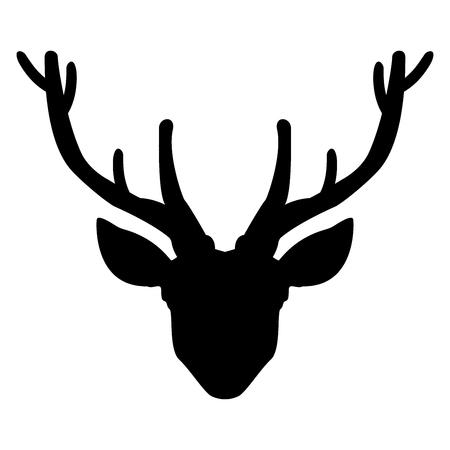 Hoofd herten pictogram.