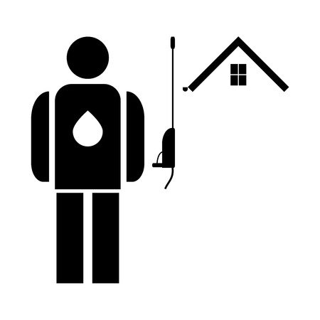 Power washing and gutter cleaning  it is the black color icon . Stock Vector - 79390768