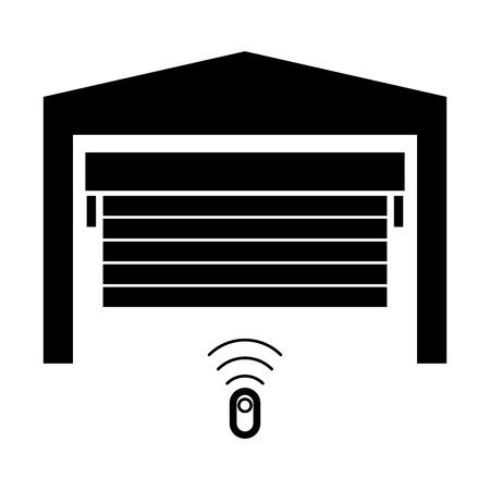 Garagentor ist die schwarze Farbe Symbol.