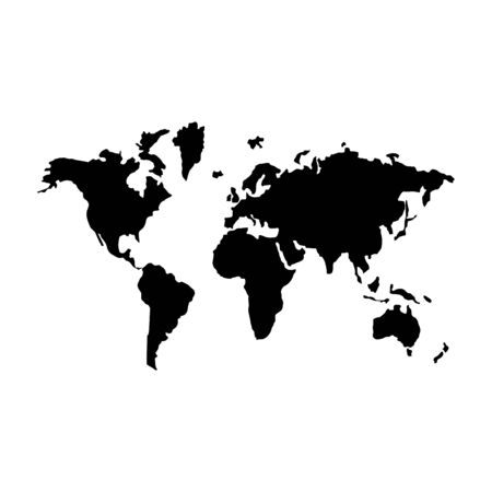 World map icon . Ilustracje wektorowe