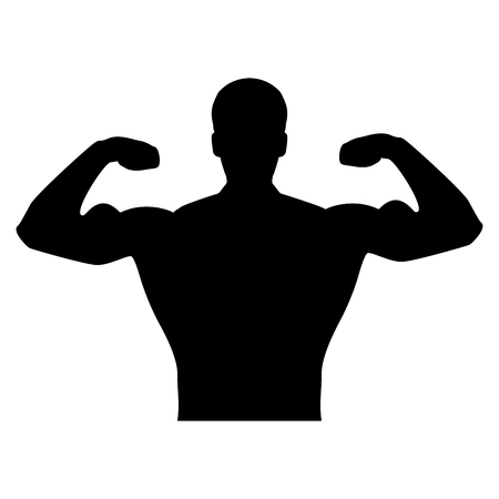 Bodybuilder it is the black  it is the black color icon .