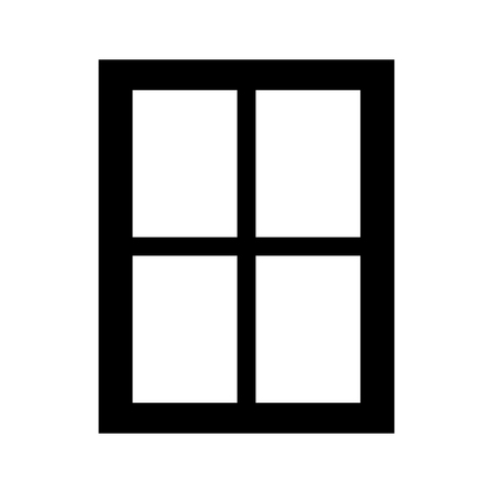 residences: Window  it is the black color icon . Illustration