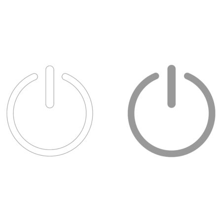 Button turn on or off black icon.  it is the grey color icon .