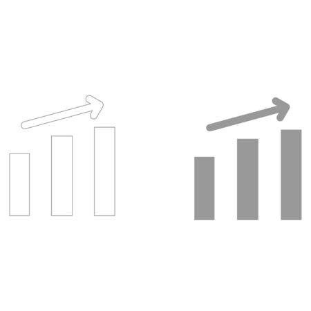 Growth chart  it is the grey color icon .