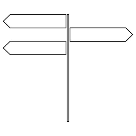 Direction sign   it is the black color icon . Illustration