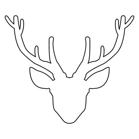 Head deer   it is the black color icon . 向量圖像