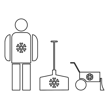 Snow removal   it is the black color icon .