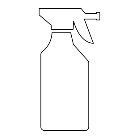 Household chemicals   it is the black color icon . Ilustrace