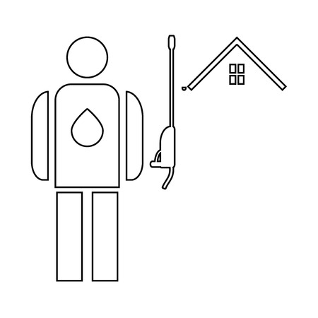 Power washing and gutter cleaning   it is the black color icon . Illustration