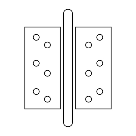 peephole: Accesories for door   it is the black color icon . Illustration