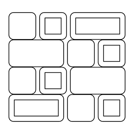 faience: Tile   it is the black color icon . Illustration