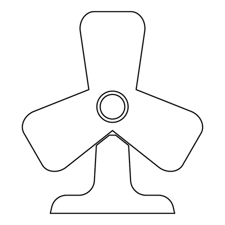 aeration: Fan   it is the black color icon . Illustration