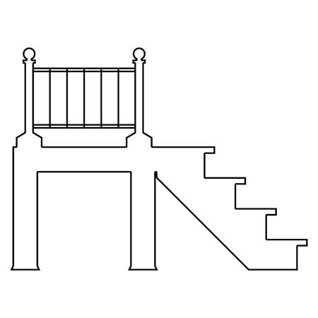 Porch   it is the black color icon . Banco de Imagens - 80177296