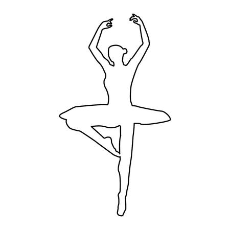 Ballet dancer it is the black color icon .