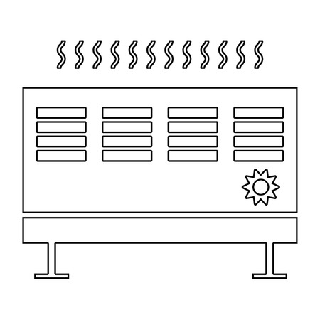 cold room: Heat con   it is the black color icon . Illustration