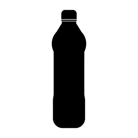 Water plastic bottle it is the black color icon . Illustration