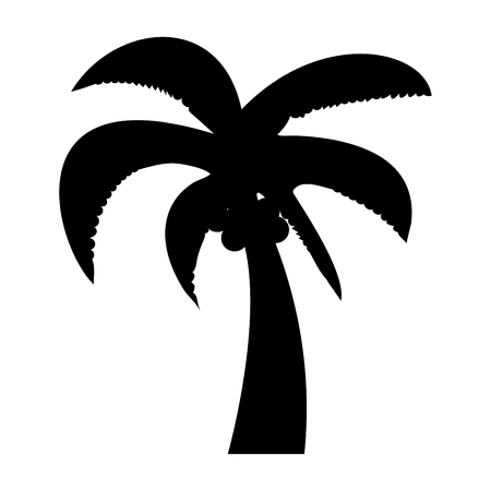 Palm it is the black color icon . Illustration