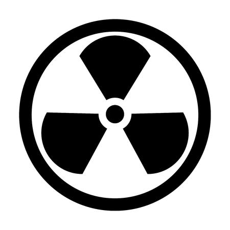 Sign radioactive it is the black color icon . Ilustração