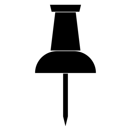 Push pin it is the black color icon . Illustration