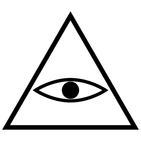 All seeing eye symbol it is the black color icon .