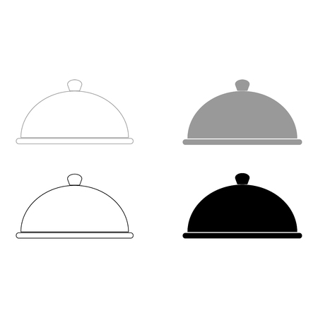 unbreakable: Dish   it is the black and grey color set icon .