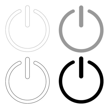 Button turn on or off icon.   it is the black and grey color set icon . Ilustração