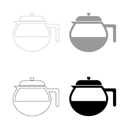 Teapot icon.  it is the black and grey color set icon . Banco de Imagens - 80687414