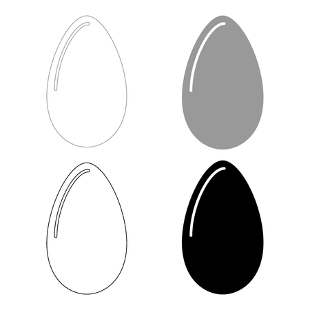 Egg   it is the black and grey color set icon .