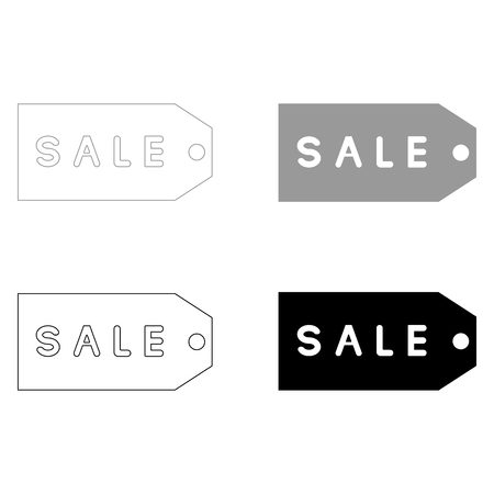 Label sale   it is the black and grey color set icon .