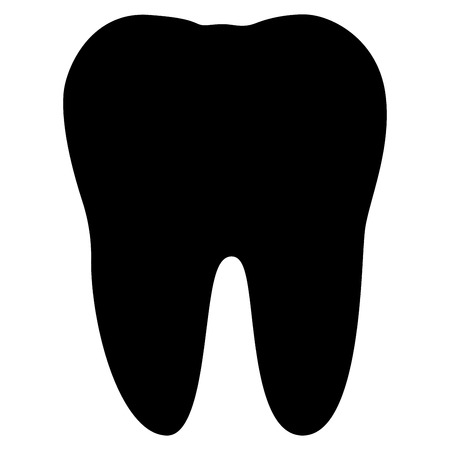 Tooth black color icon . Illustration