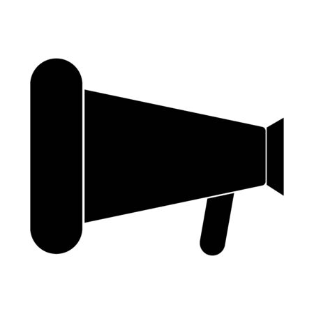 loud: Loud speaker or megaphone black color icon.