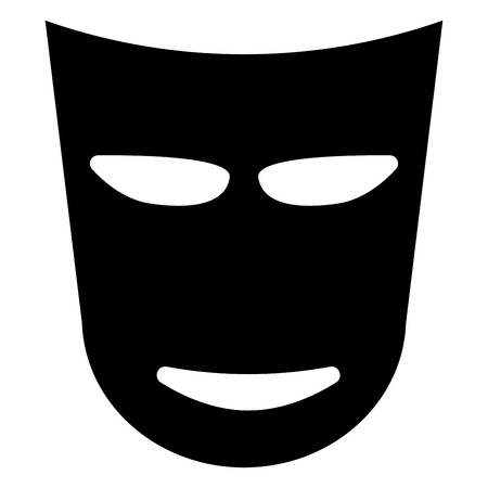 comedy: Theater mask black color icon .