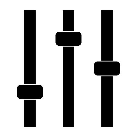 Control panel  it is the black color icon . Banco de Imagens - 80906221