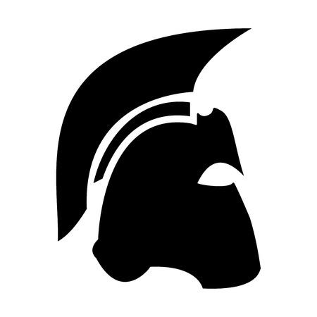 Spartan helmet black color icon