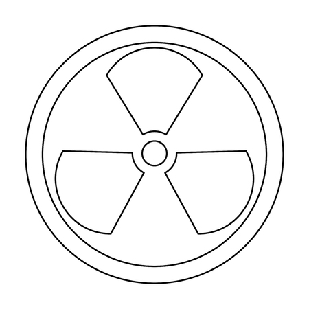 radium: Sign radioactive  it is the black color icon .