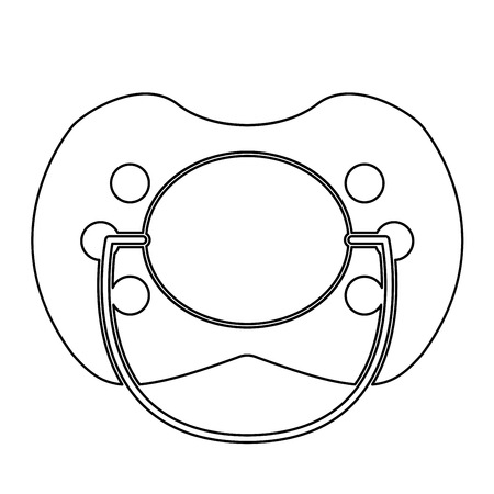 Baby pacifier  it is the black color icon .