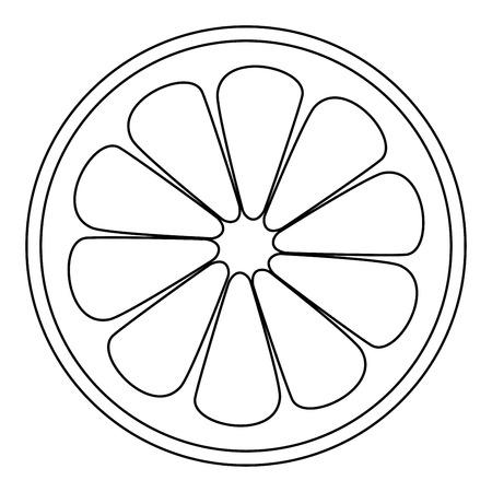 Lemon Slice It Is The Black Color Icon