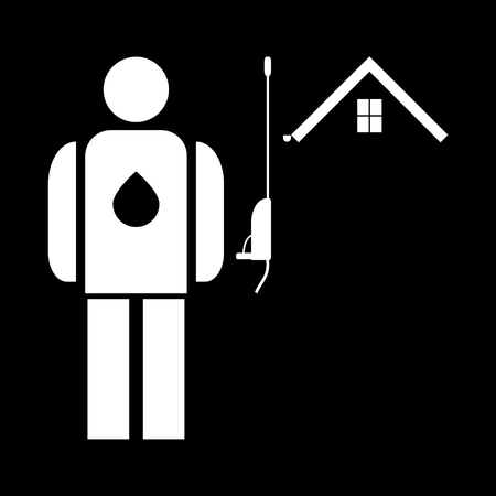 Power washing and gutter cleaning it is the white color icon. Illustration