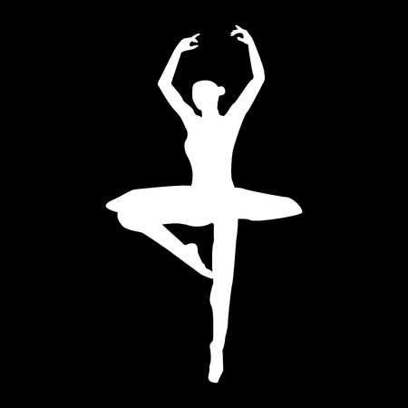 Ballet dancer it is the white color icon.