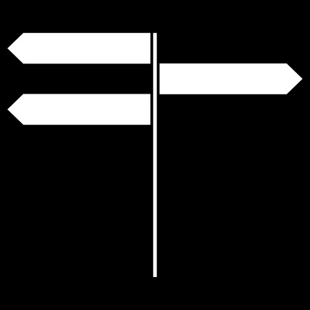 Direction sign it is the white color icon.
