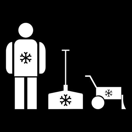 Snow removal it is the white color icon.