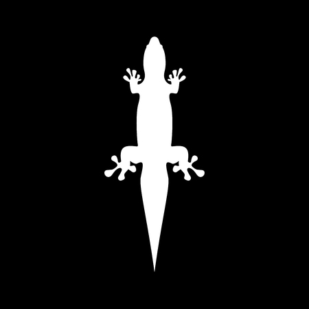 Lizard it is the white color icon. Illustration