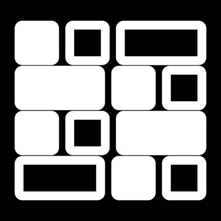 Tile it is the white color icon. Иллюстрация