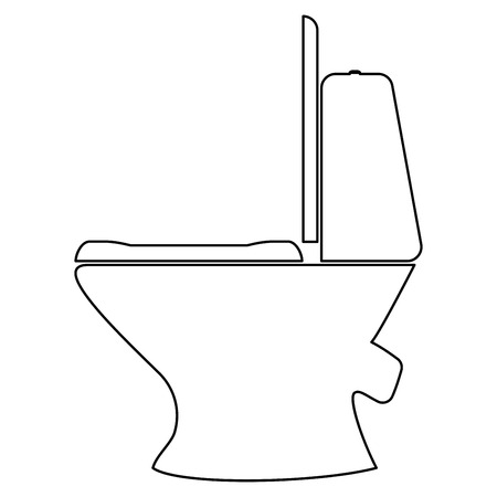 empty the bowel: Toilet bowl  it is the black color icon . Illustration