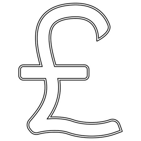 Pound sterling  it is the black color icon .