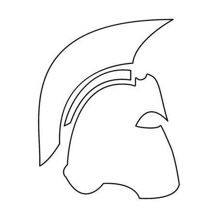 Spartan helmet  it is the black color icon .