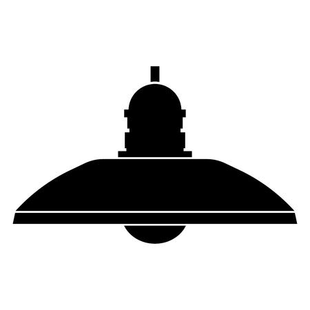 Retro huishoudlamp en staande lamp het is het zwarte kleurenpictogram.